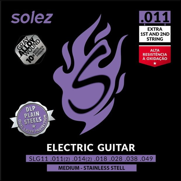 Encordoamento p/Guitarra 011 SOLEZ SLG-11
