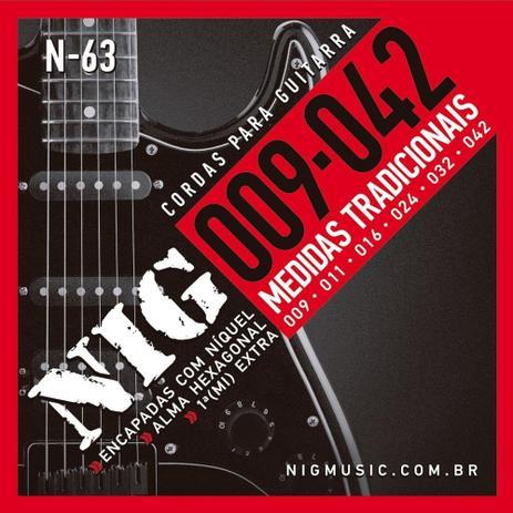 Encordoamento para Guitarra .009 Nig Traditional N-63