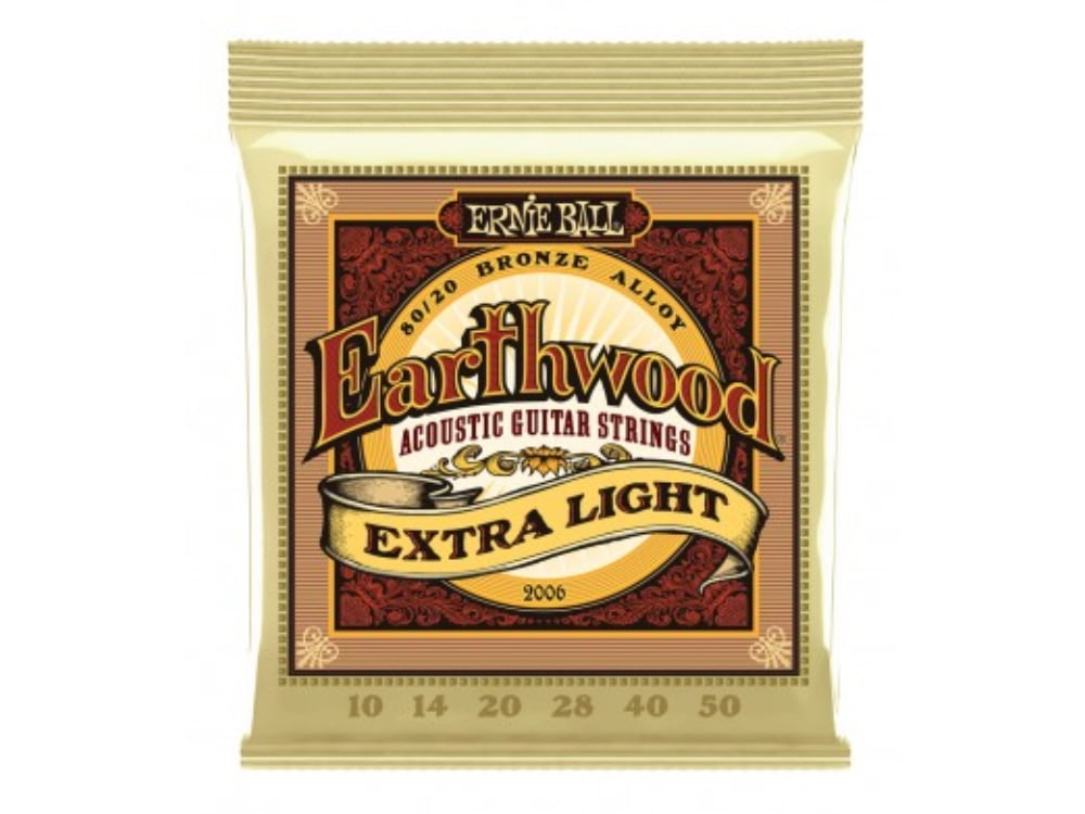 Encordoamento para Violão .010 Ernie Ball Earthwood Extra Light Ref. 2006
