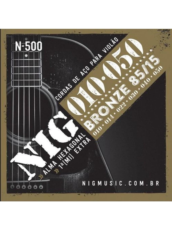 Encordoamento NIG  P/ Violão 0.10 N-500