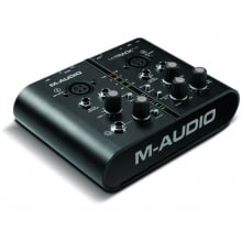 Interface de Audio e MIDI 2 canais USB M-Audio M-Track Plus c/ Pro Tools Express