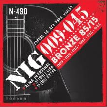 Encordoamento NIG  P/ Violão  0.09 N-490