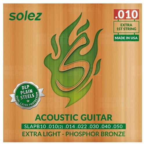 Encordoamento p/Violão Aço 010 SOLEZ Phosphor/Bronze SLAPB-10
